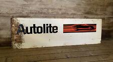 Vintage Original Autolite FORD Dealership Thick Metal Sign w GT40 Gas & Oil