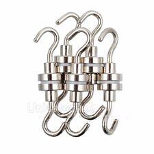 10PCS Ferrite Magnetic Hooks N35 16mm Neodymium Strong Magnet Hold  New