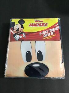 Disney Junior Mickey 2 Piece Toddler Sheet Set NEW