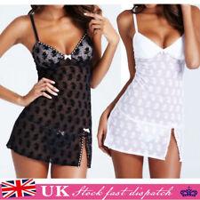 Womens Sexy Babydoll G-String Dress Ladies Underwear Lingerie Thong Nightwear G