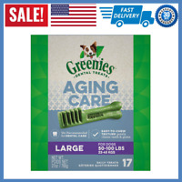 GREENIES Senior Aging Care Dental Dog Treats, 27 oz. Pack Large NEW