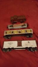 4pc Vintage Lionel O Gauge Train Car Lot Caboose Milk 36621