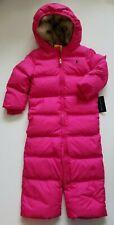 Ralph Lauren Girls Down Snowsuit Bunting Pink Size 24 Months NWT