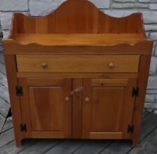 S J BAILEY AND SONS MASTERCRAFT FURNITURE HUTCH WOODEN PIONEER RUSTIC