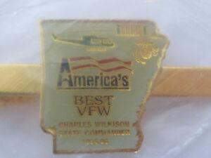 VETERANS OF FOREIGN WARS Arkansas Americas Best VFW  Tie Clip Clasp