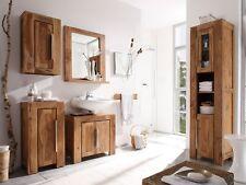 Badmöbelset 5-teilig 4x Schrank + Spiegel Palisander Holz massivum Stark II