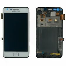 Samsung Galaxy s2 plus i9105p pantalla LCD táctil cristal marco blanco