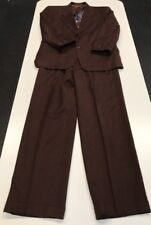 Exceptional 2-Button MONSIEUR By GIVENCHY Suit Brown 37x31 Cuffs Pure Wool