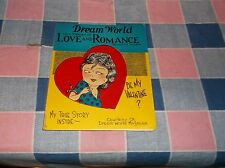 """ksm. Vintage Valentine Dream World Magazine Valentine Number 4 3/4 x 4"""""""