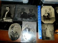 Lot of Six Very Large Tintypes all Half Plate and Larger