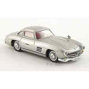 Brekina 38394 1/87 Ho Mercedes 300 Sl W198 Grigia Macchina Miniatura H0
