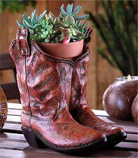 Southwestern Cowboy * Classic Cowboy Boots Planter * Drain Hole in Bottom * Nib
