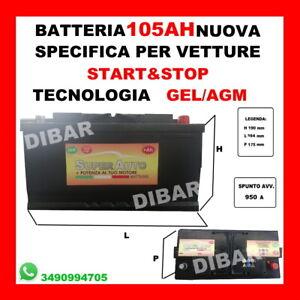 Batterie 105AH Neu Start & Stop AGM Stichwort 950 Mercedes Benz 58