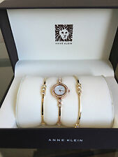 wannawatch: NEW with DEFECT ANNE KLEIN Rose Gold & Gold Tone Bracelet Watch Set