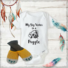 Big Sister Puggle Onesies & Claw shoes Baby Shower Gift Set Baby Gifts Newborn
