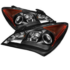 Fit Hyundai 10-12 Genesis Coupe 2Dr Black DRL Halo LED Projector Headlights Lamp