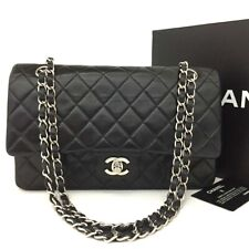 CHANEL Double Flap 25 Quilted Silver Hardware Lambskin Shoulder Bag / kFD x