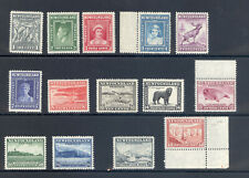 NEWFOUNDLAND  1941-44 SG 276-289 GVI DEFINITIVE SET  MNH