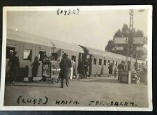 PALESTINE JERUSALEM LYDDA HAIFA RAILWAY 1932 SMALL PICTURE NICE!