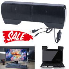 New listing Stereo Sound External Usb Computer Speakers Soundbar Clip Laptop Tablet Desktop