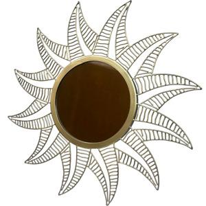"20"" Gold Sun Sunflower Sunshine Mirror - Authentic Handmade Hand Crafted"