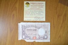 BANCONOTA LIRE 100 MATRICE DECRETO 18 12 1925 NC certificata MB SUBALPINA
