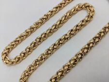 14K YELLOW GOLD TOGGLE WHEAT NECKLACE