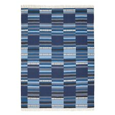 Tappeto Ikea modello Tranget, fatto a mano, sfumature blu, pura lana, 170 x 240