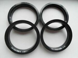 4 Polycarbon Plastics hub centric rings vehicle side 57.1mm to rims side 70.4mm