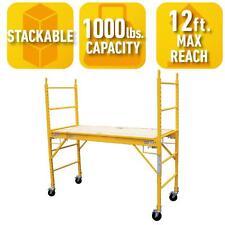 6 x 6 ft. Rolling Scaffolding w Adjustable Platform Casters Tower Frame Scaffold