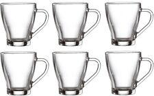 Set Of 6 Glass Tea Coffee Cups Double Wall Drinking Drink Mug Cup Milk Tea 260ml