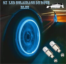 2x Ampoules Led Bleu De Valve De Roue Jantes Tuning Bmw,Audi,Vw,Ford,Opel,Fiat