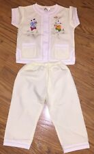 golden lion toddler clothes size 2 vintage asian embroidered Lounge Yellow