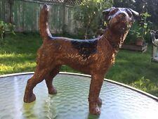 Antique Hubley Fox Terrier Dog Cast Iron Doorstop