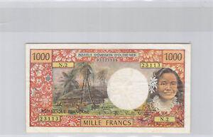 Nouvelle Calédonie Nouméa 1000 Francs (1971) N.2 n° 03723113 Pick 64a