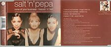 SALT'N' PEPA raro CD single NONE OF YOUR BUSINESS 4 tracce 1994