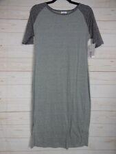 Lularoe Women's Julia Dress Heathered Gray Size M NWT - A2545