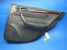 01-05 MERCEDES W203 C320 C240 REAR RIGHT PASSENGER SIDE DOOR PANEL BLACK LEATHER