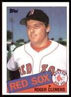 1985 Topps Jvb5 Roger Clemens Boston Red Sox #181