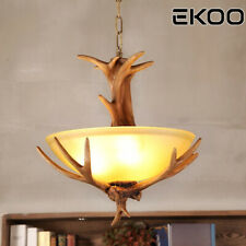 Rustic village Deer Antler Chandelier Pendant Light Vintage European Industrial