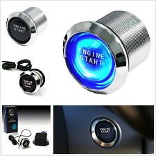 Car Offroad Keyless Engine Ignition Blue LED Power Starter Push Button Switch
