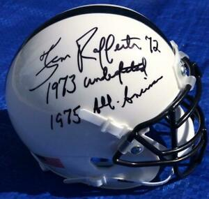 Tom Rafferty Auto Penn State Mini Helmet w/ 1973 Undefeated & 1975 All American