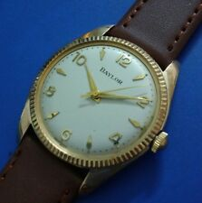 Vintage 1960s Mans BAYLOR Hand Winding FULLY SERVICED RUN'S EXCELLENT