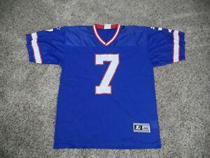 Starter sz 48/L DOUG FLUTIE #7 Buffalo Bills Jersey Mens Adult Blue  (4A1)