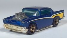 "Hot Wheels 57 Chevy Chevrolet 3"" Die Cast Scale Model Metalflake Blue Hot Rod"