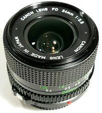 Canon FD 24mm F2.8 Wide Angle Prime Lens with Caps and Hood UK Fast Post