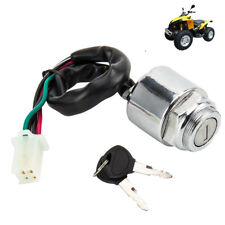Universal Motorcycle Motorbike Ignition Barrel Key Switch 4 Wires Quad On/Off
