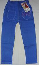 Kinder Mädchen Legging  Gr. 110 - 116 blau NEU  L / 49