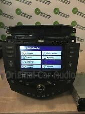 2003 HONDA Accord Navigation GPS Radio 6 CD Changer Player 2CK0 AUX OEM