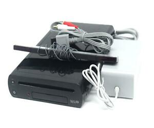 Nintendo Wii U Console 32GB Black Premium Gaming Console Cables Included UK PAL
